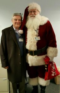 Dr. Stephen Coan and Santa