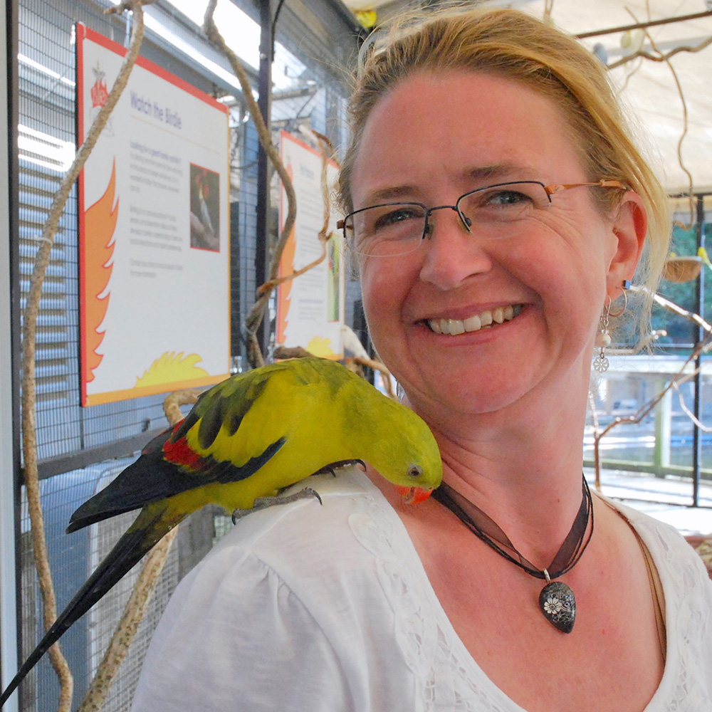 Guest with Parrot