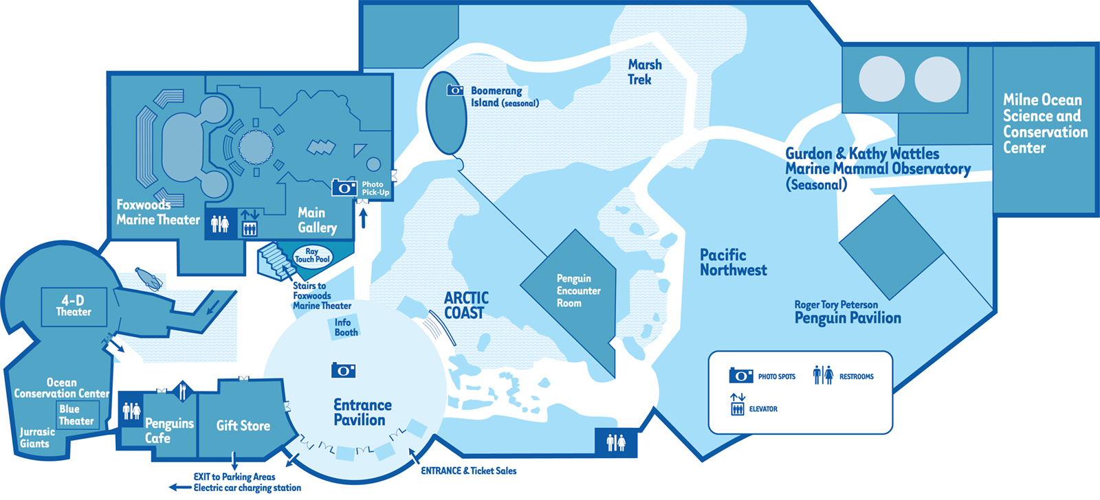 Mystic Aquarium Map